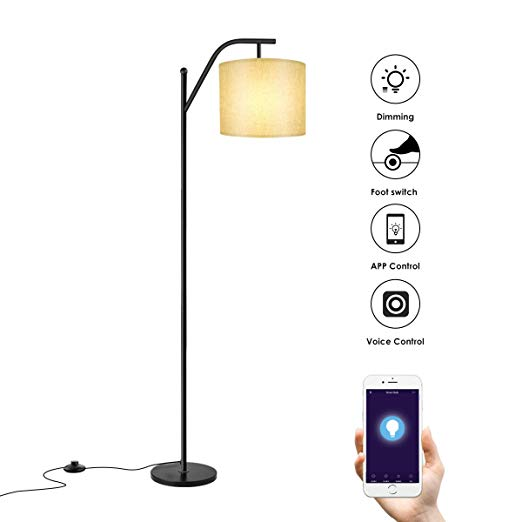 Floor Lamp Wellwerks Smart Light With Wi Fi Bulb Classic Standing Industrial Arc Light With Lamp Shade Modern Floor Lamp Arc Floor Lamps Floor Lamp Lamp