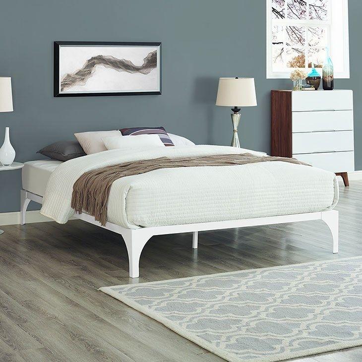 Lexmod Ollie Full Bed Frame In White Full Bed Frame Bed Frame