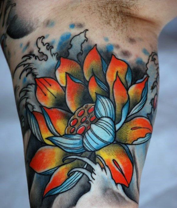 100 Lotus Flower Tattoo Designs For Men Cool Ink Ideas Tattoos