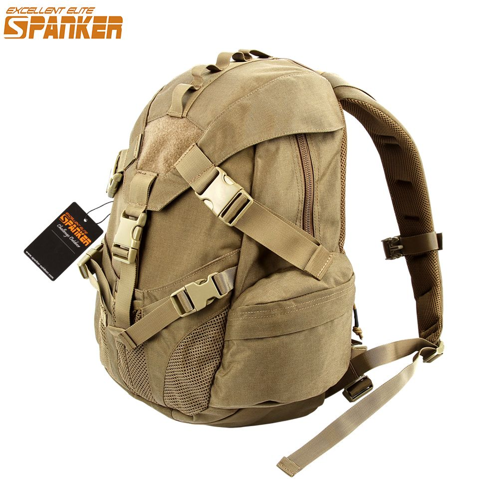 46513f119b2e EXCELLENT ELITE SPANKER Tactical Outdoor Mountain Climbing Hunting Backpack  Nylon Military Triangle Cover Sports Bag ICON