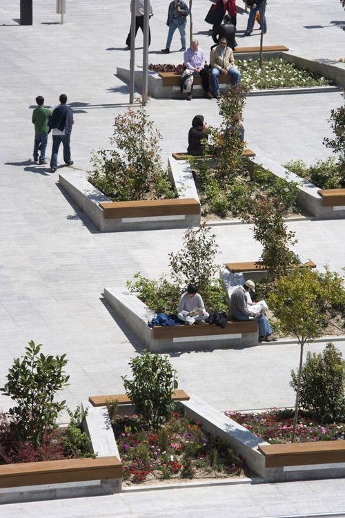 Landscape Architecture Tumblr Concrete Wood Seating Urban Landscape Design Landscape Architecture Design Landscape Design
