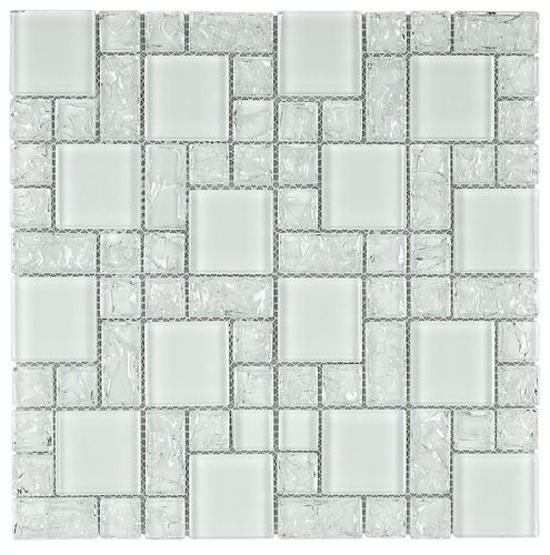 Style Of Crackled Glass Mosaic Tile French Pattern Honey Top Design - Awesome black mosaic tile Review