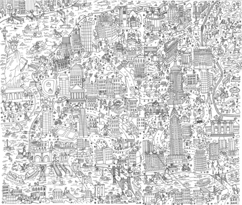 New York Doodle Coloring Page Free Printable Coloring Pages Coloring Pages Printable Coloring Pages