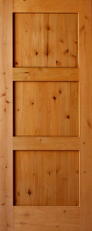 Craftsman 3 Panel Horizontal Ours Knotty Alder Doors