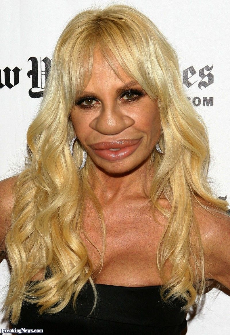 Donatella Versace with a Big Nose | Long face hairstyles, Hairstyles for round faces, Long face ...