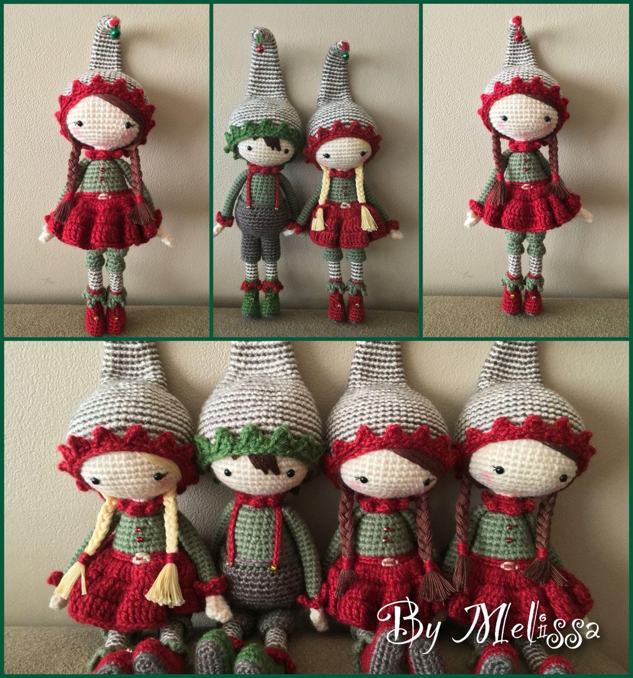 Crochet christmas elves inspiration bambole pupazzi - Adornos navidenos crochet ...