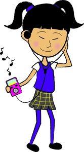 clip art of teenagers music clipart image teenager listening to rh pinterest com kid listening to music clipart kid listening to music clipart