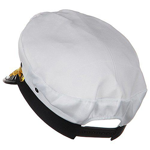 8c40300d534 Sailor Ship Yacht Boat Captain Hat Navy Marines Admiral Cap Hat White Gold  23400   Click image to review more details.