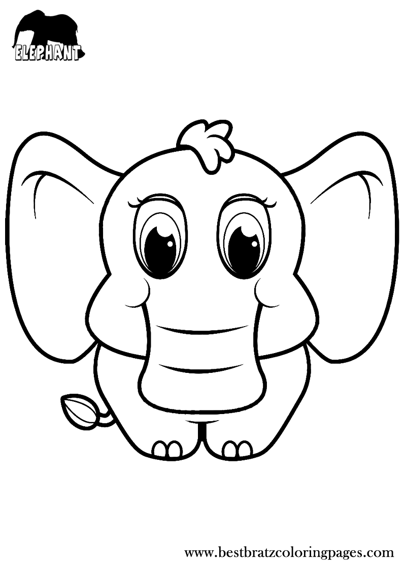 free printable elephant coloring pages for kids coloring pages