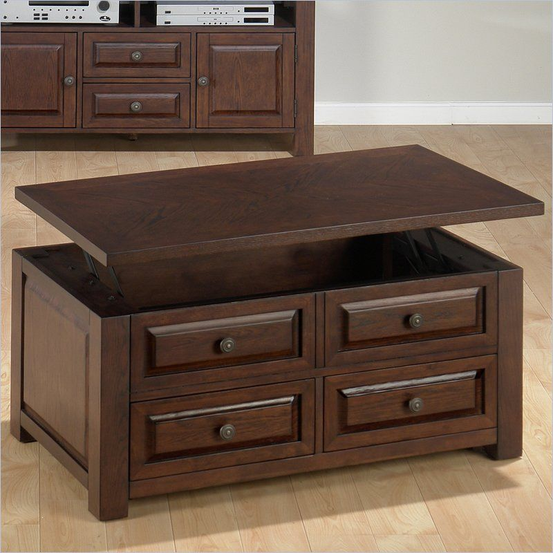 Jofran 484 Series Rectangular Wood LiftTop Coffee Table