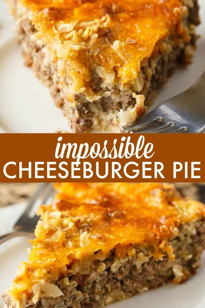 Impossible Cheeseburger Pie images