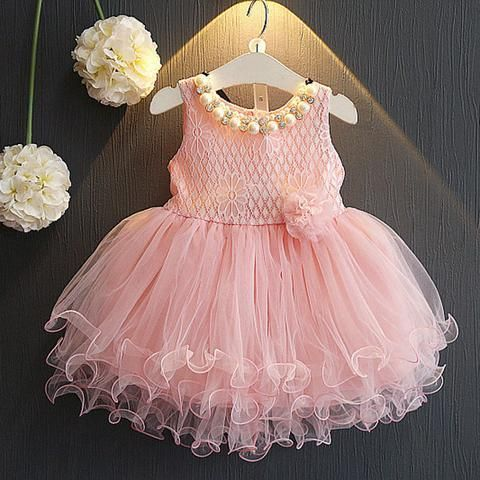 f2be405a34fb Children lace flower princess party clothing