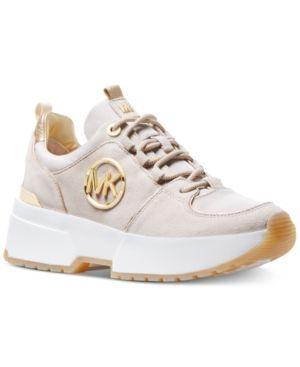9342bbfab401 Michael Michael Kors Cosmo Trainer Sneakers - Tan/Beige 6M ...