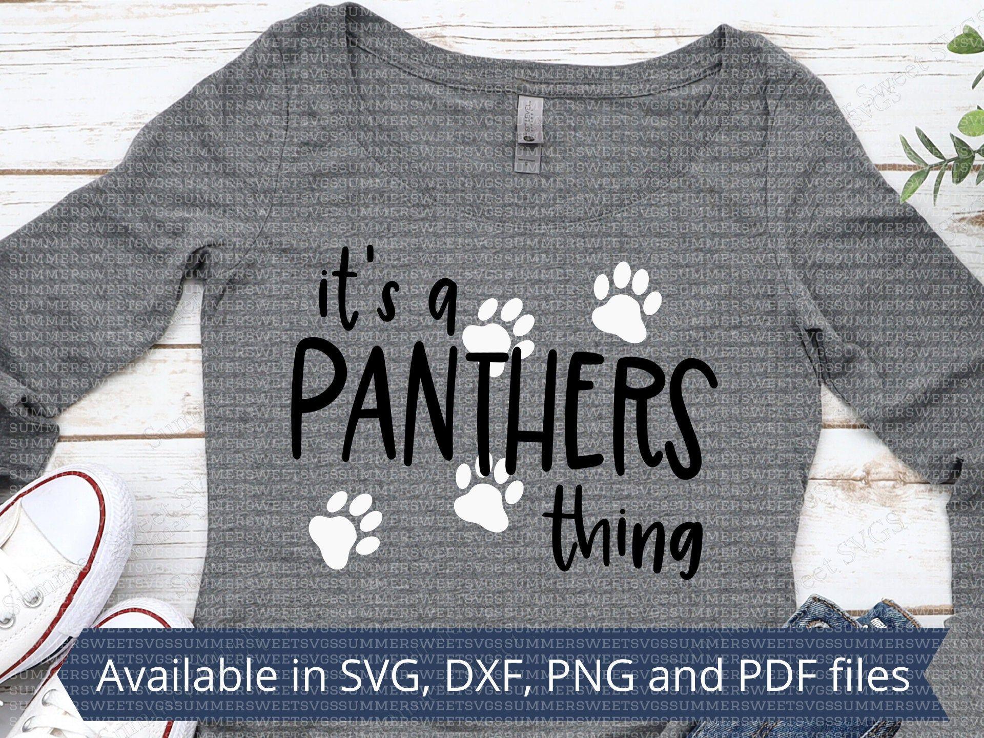 Panthers svg file Panther panther paw shirt Team spirit cut | Etsy