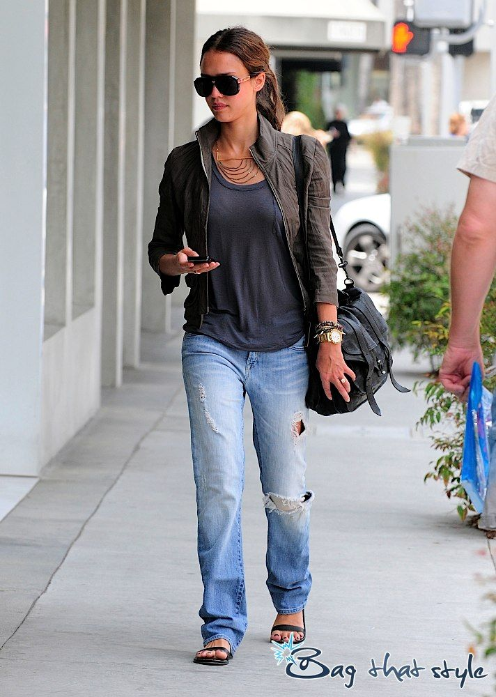 Jessica Alba goes casual with Proenza Schouler