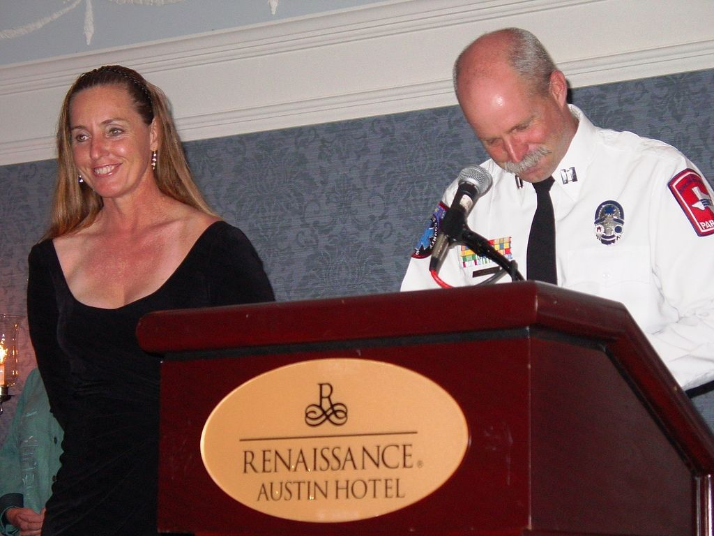 https://flic.kr/p/54D1a4 | shawn H&L Awards Collins | Collins finally gets me to smile at the Higgins and Langley Memorial awards for Flood and Swiftwater Rescue