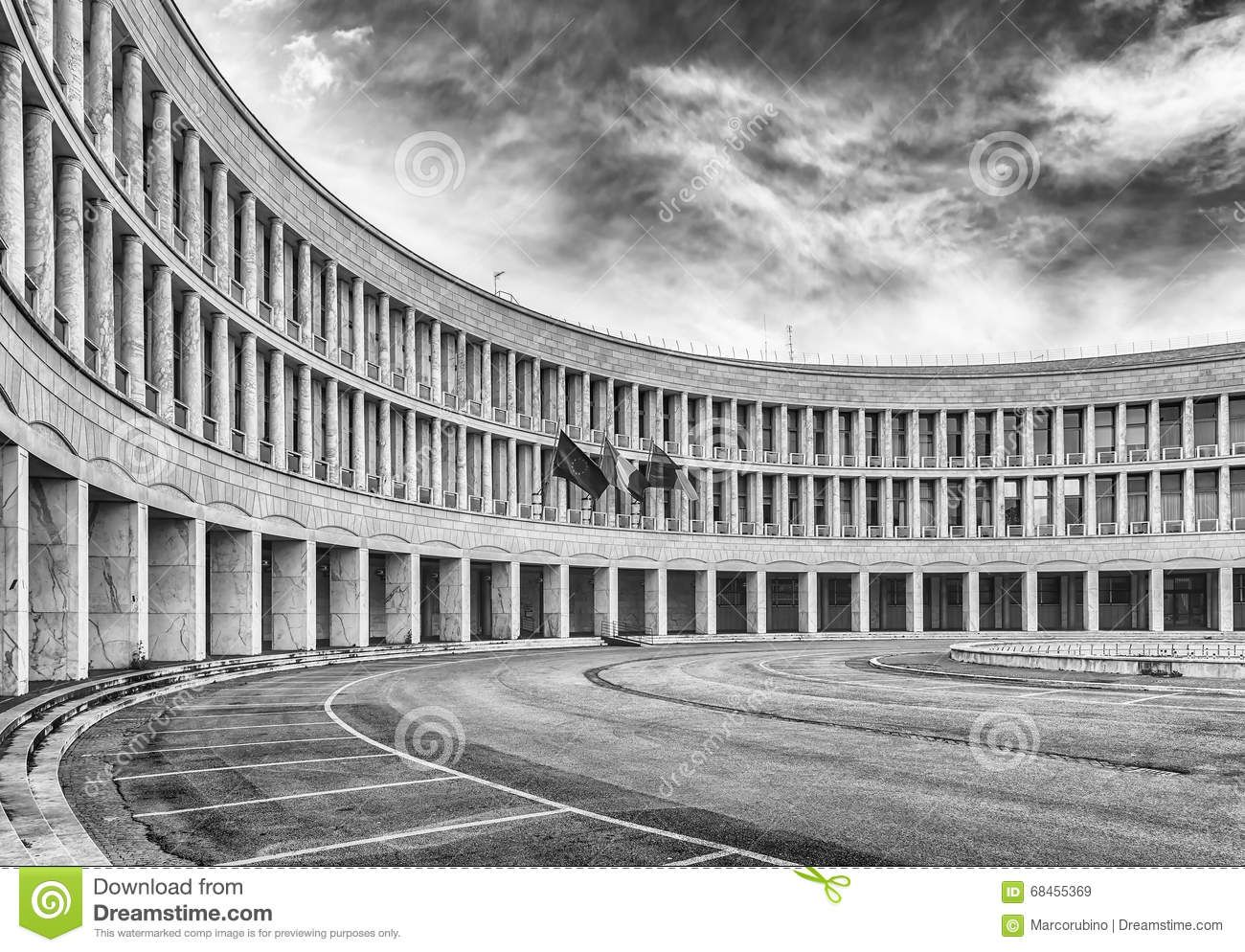 Neoclassical Architecture In Eur District Rome Italy Stock Image Image Of Italian Italy 68455369