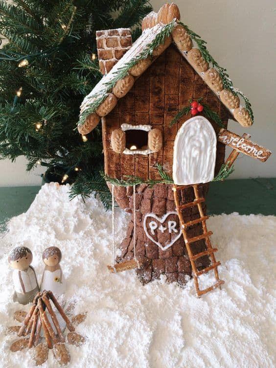 Beautiful Christmas Gingerbread House Ideas - Blush & Pine Creative
