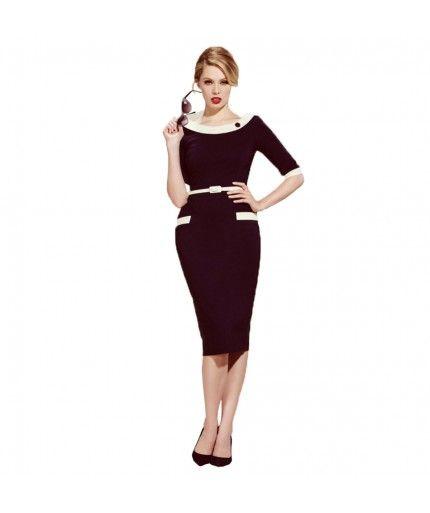 The Pretty Dress Company - Joelle Pencil Dress Navy