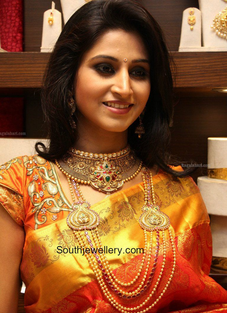 Suhasini in gundla haram jewellery designs - Jewellery Designs Page 2 Of 950 Latest Indian Jewellery Designs 2017 22 Carat Gold Jewellery