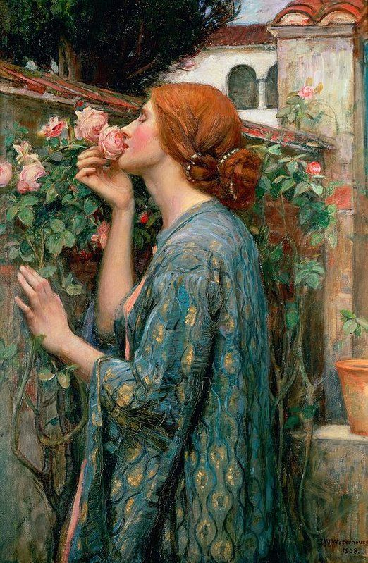 The Soul of the Rose Art Print by John William Waterhouse