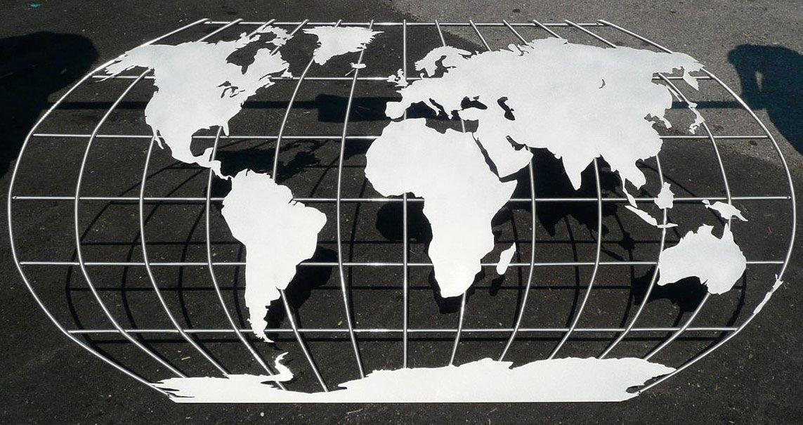 World globe metal art ile ilgili grsel sonucu optmal metal metal world map wall mural 10 feet wide gumiabroncs Gallery