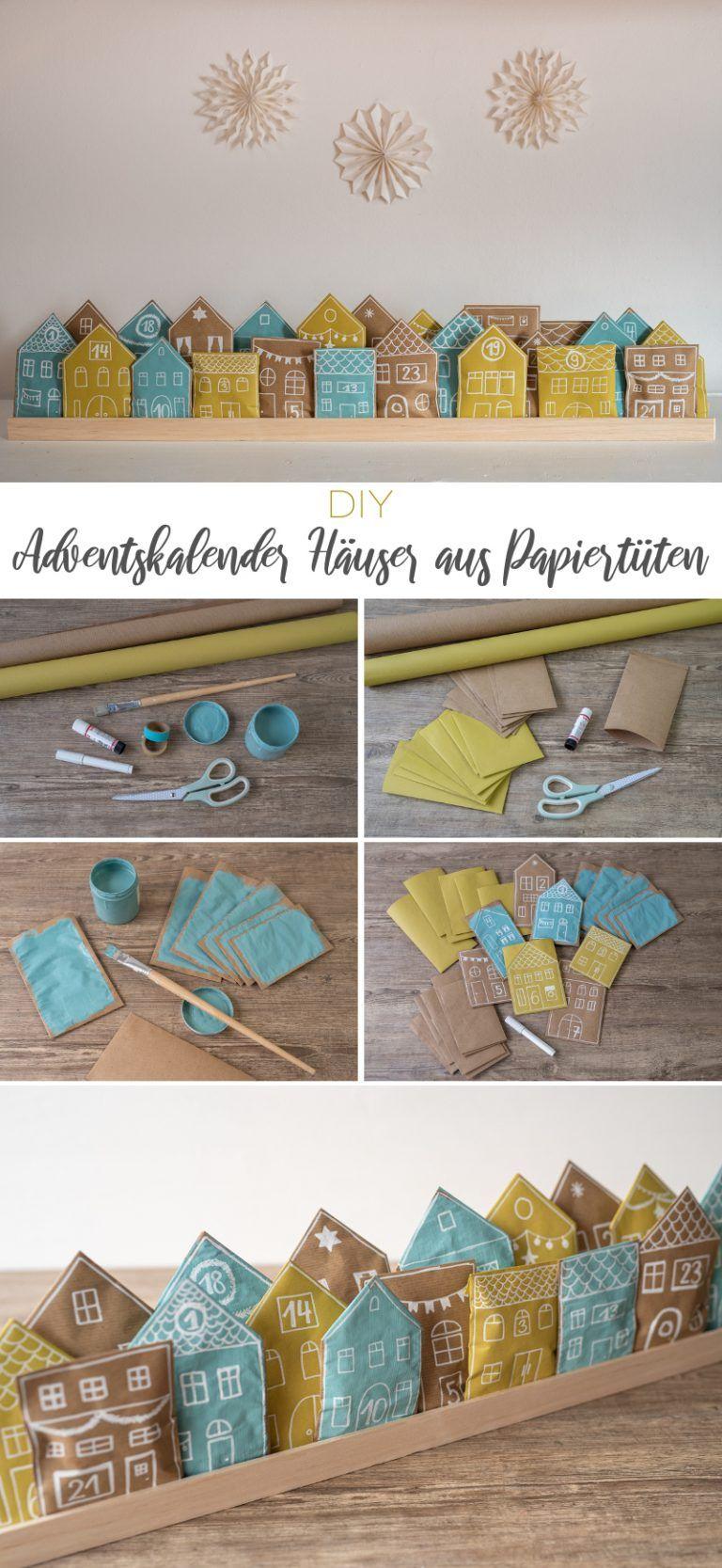 DIY – Adventskalender Häuser aus Papiertüten – Leelah Loves