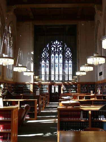 Medium Oak Bookcases With Prominent Cornice Library Library Law School Yale