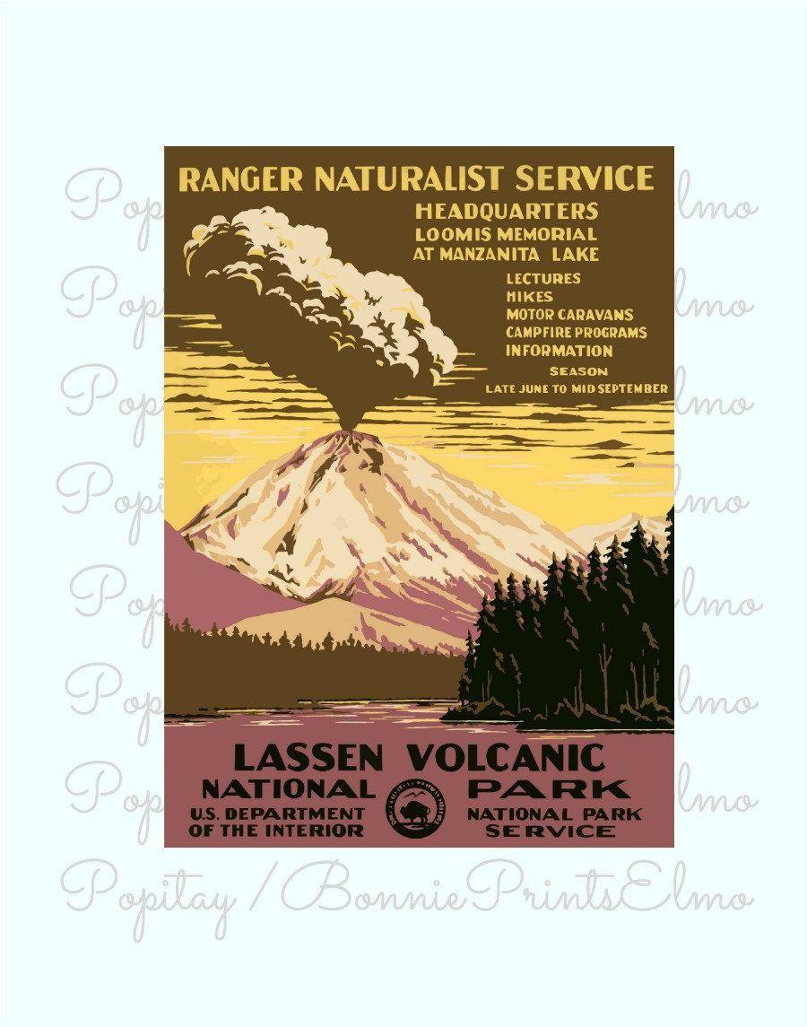 Lassen National Park Poster, California Poster, California Park ...