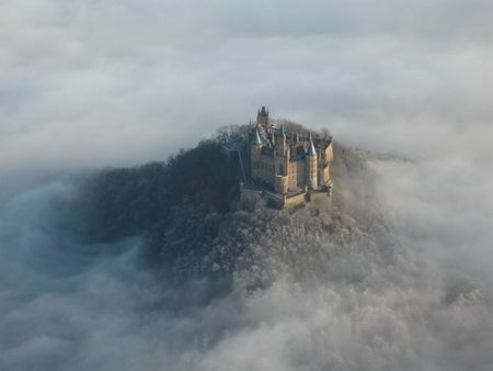 Hohenzollern Castle In The Mist 50 Km South Of Stuttgart Germany Hohenzollern Castle Castle European Castles