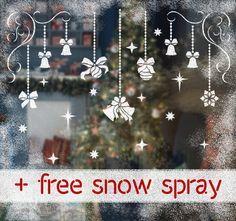 Front Windows Snow And Sprays On Pinterest Christmas Window Painting Christmas Stencils Holiday Decor Christmas