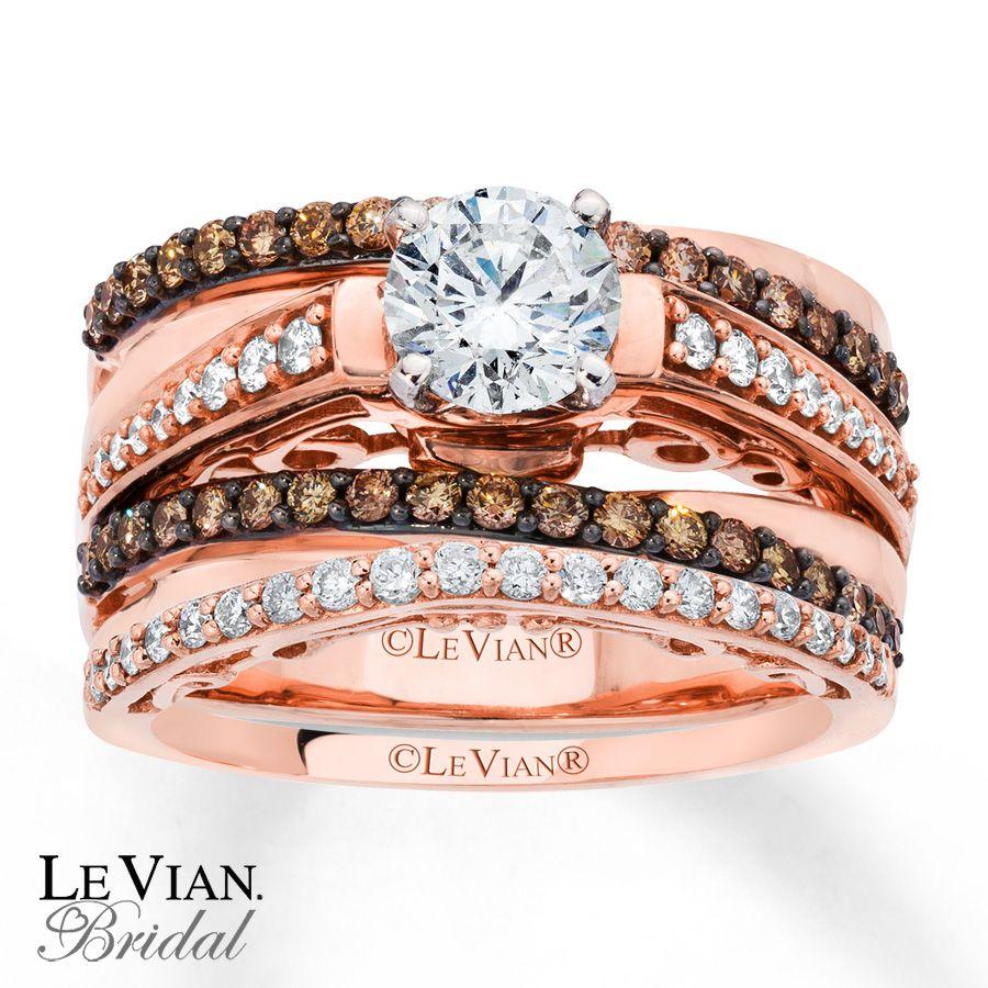 chocolate diamond wedding rings