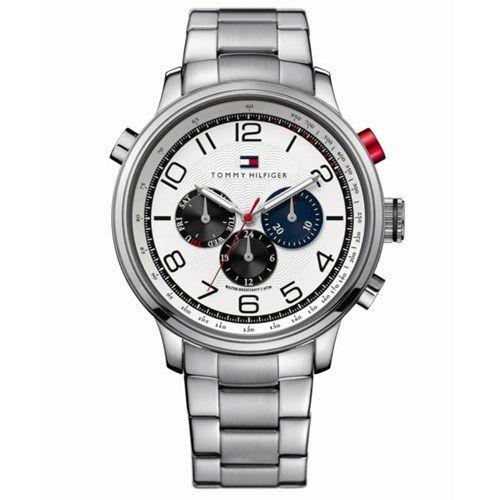 86b36d6e051 Relógio masculino Tommy Hilfiger com pulseira em aço prata. 1790765 ...
