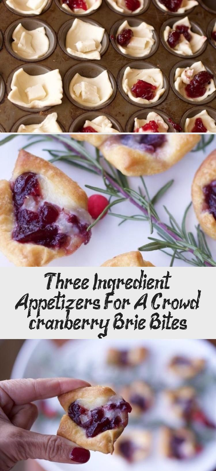 Three Ingredient Appetizers For A Crowd (cranberry Brie Bites) #cranberrybriebites
