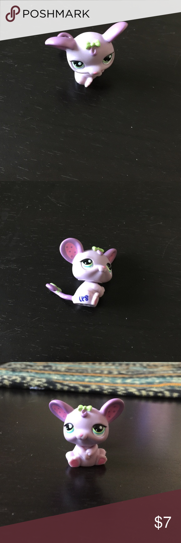 2007 LITTLEST PET SHOP Adorable 2007 Littlest Pet Shop Adorable Purple Mouse Green Eyes & Bow Hasbro LPS Toy. Littlest Pet Shop we have 100's if you don't see the one you're looking for just ask... Little Pet Shop Accessories