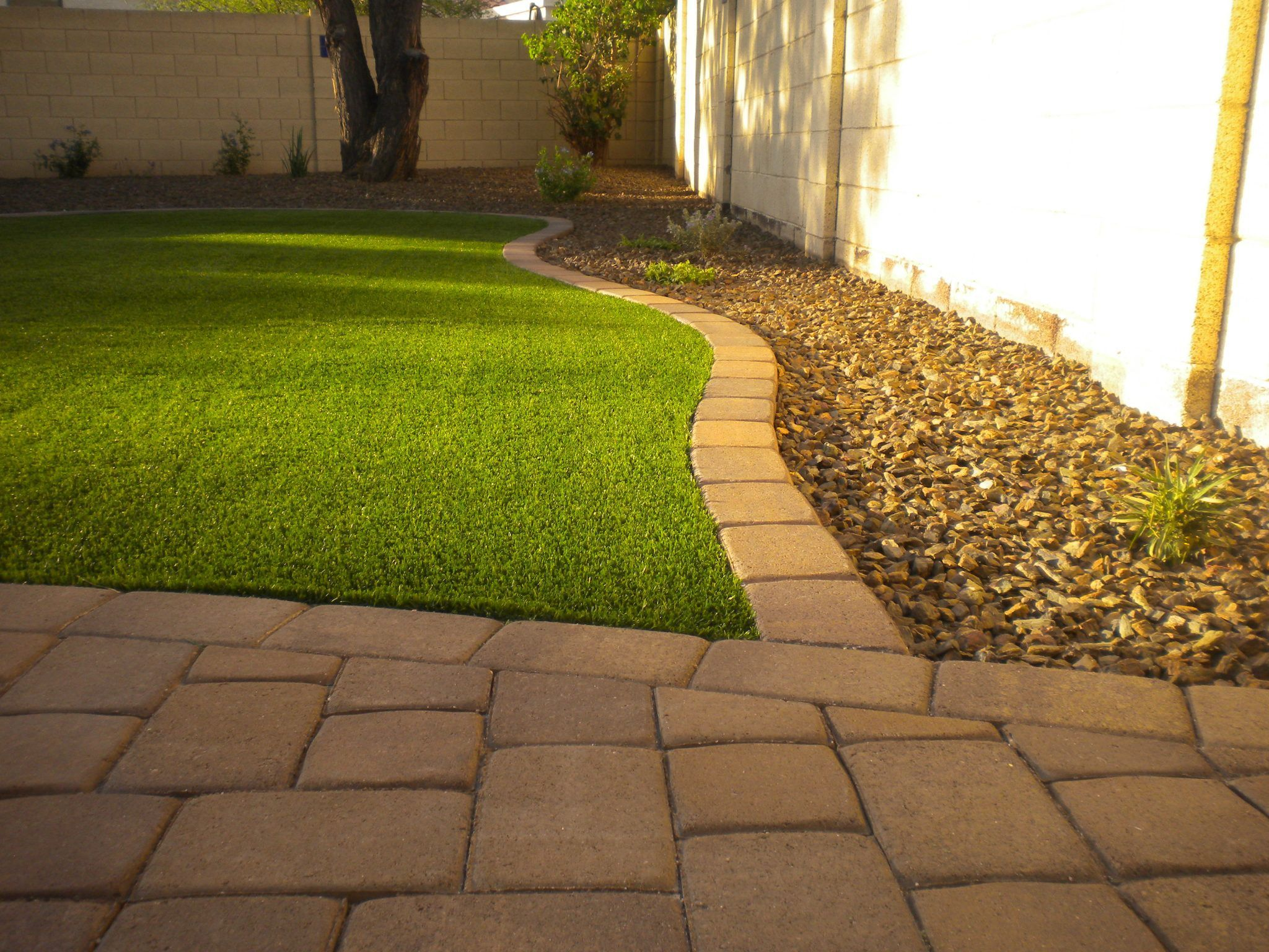 Artificial Turf & Pavers | Artificial turf, Backyard ideas ... on Artificial Turf Backyard Ideas id=51909