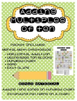 Adding Multiples of Ten | Educational Finds and Teaching