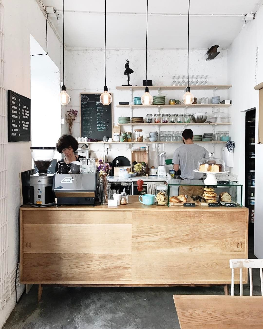 Anything Better Than Starting The Weekend At A Cool Coffee Spot This Is Hellokristof In Lisbon Th Coffee Bar Design Coffee Shops Interior Coffee Shop Decor