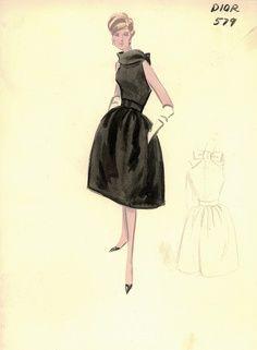 Lovely cocktail dress c. 1950