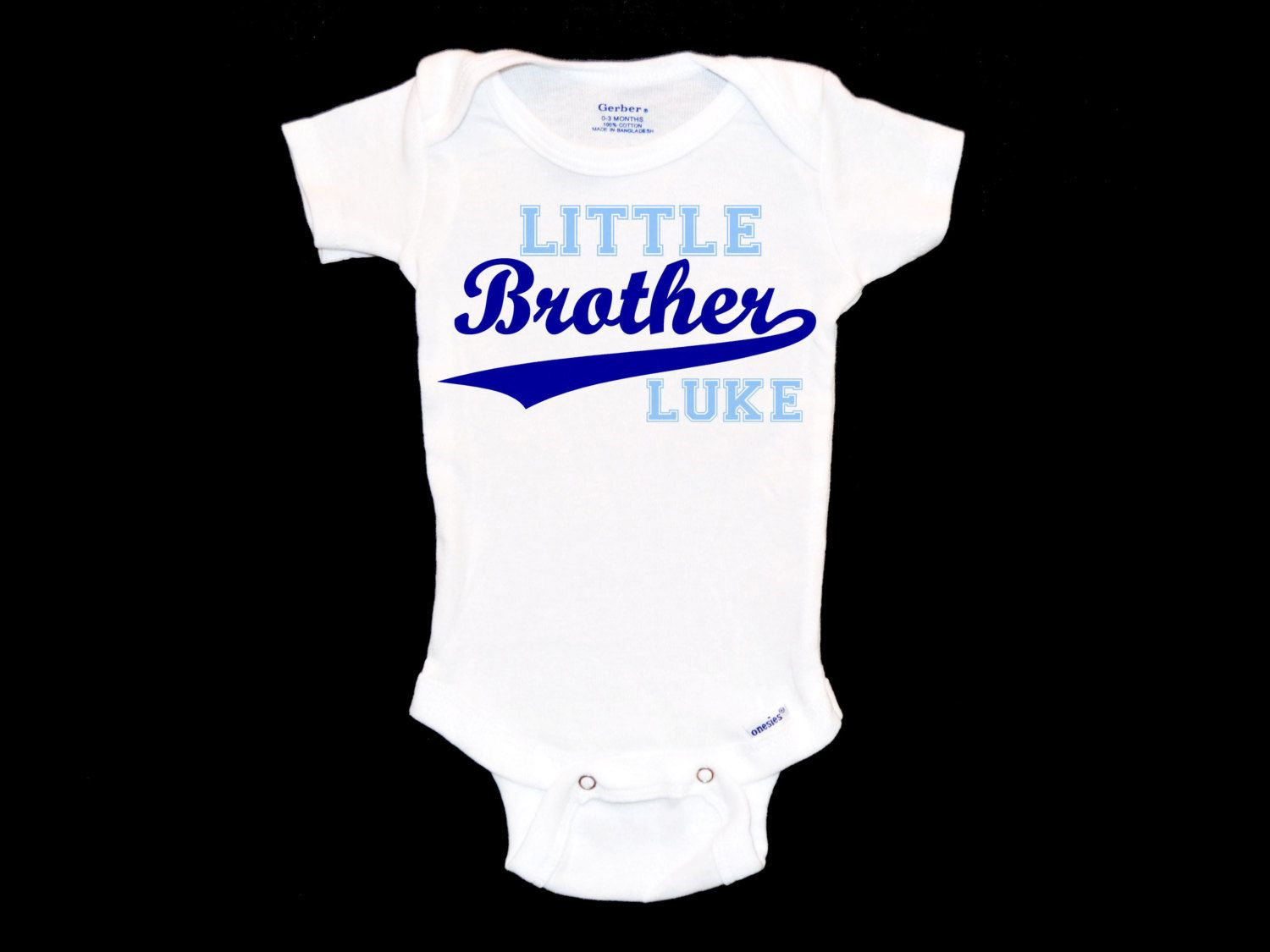 Personalizable Little Brother Onesie - Custom Baby Boy Onsie, Infant  Baseball Shirt, Newborn Sibling Outfit, Unique Baby Shower Gift