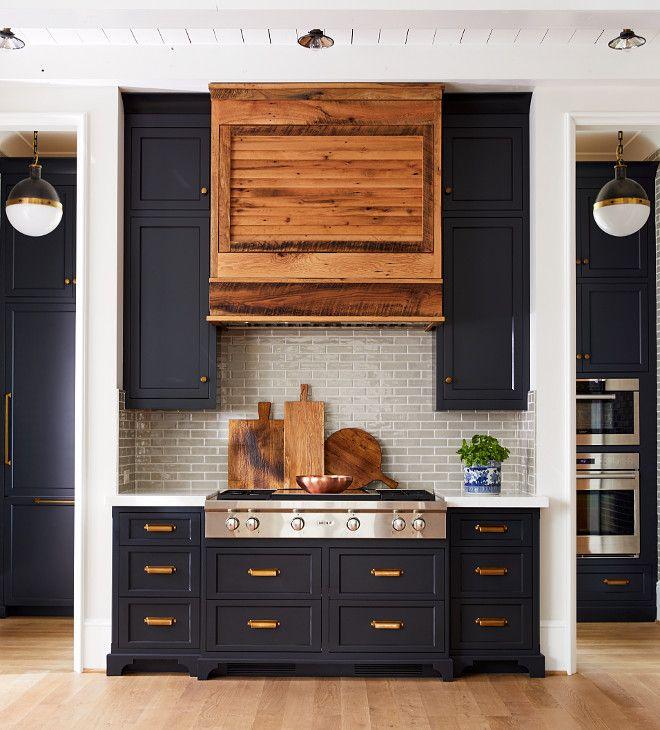 Kitchen Cabinets Inside: Benjamin Moore Midnight Oil