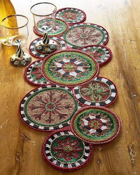 Mackenzie Childs Festivity Beaded Table Runner 105 Free S H Compare Elsewhere At 125 Shop Sarto S Sartoshome Mackenzie Childs Table Runners Beaded