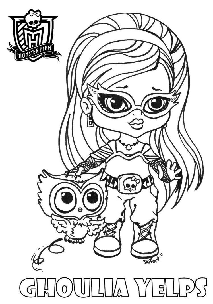 Baby Ghoulia Printable Coloring Sheet From Jadedragonne At Deviant High Baby Coloring Pages