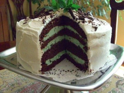 Chocolate Mint Ice Cream Cake