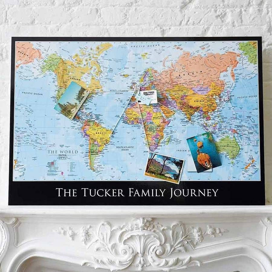 Personalised map of the world2 travel room themes house and room personalised map of the world from notonthehighstreet gumiabroncs Image collections