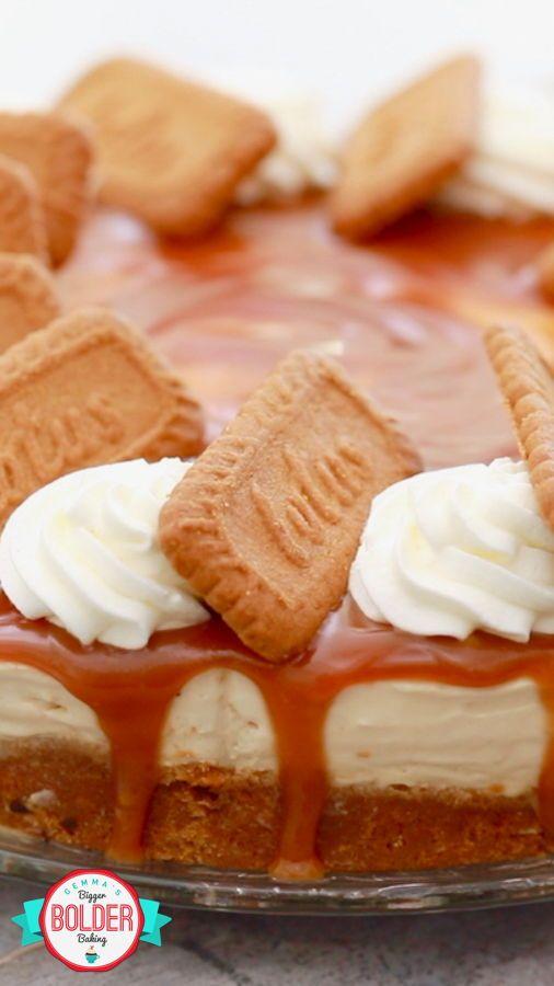 No-Bake Cookie Butter Cheesecake - Gemma's Bigger Bolder Baking