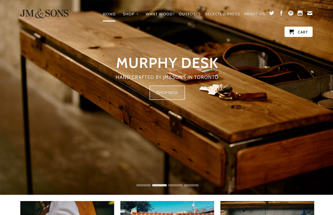 30 beautiful and creative ecommerce website designs shopify - Beautiful Furniture Websites
