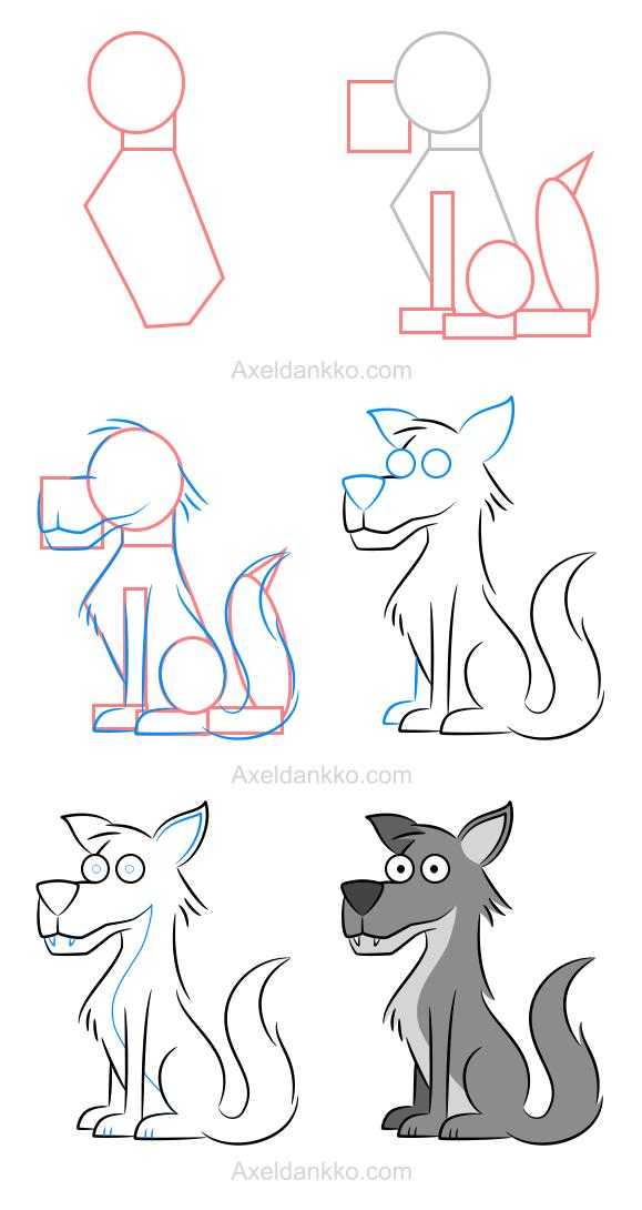 How to draw a wolf comment dessiner un loup dessin - Un loup dessin ...