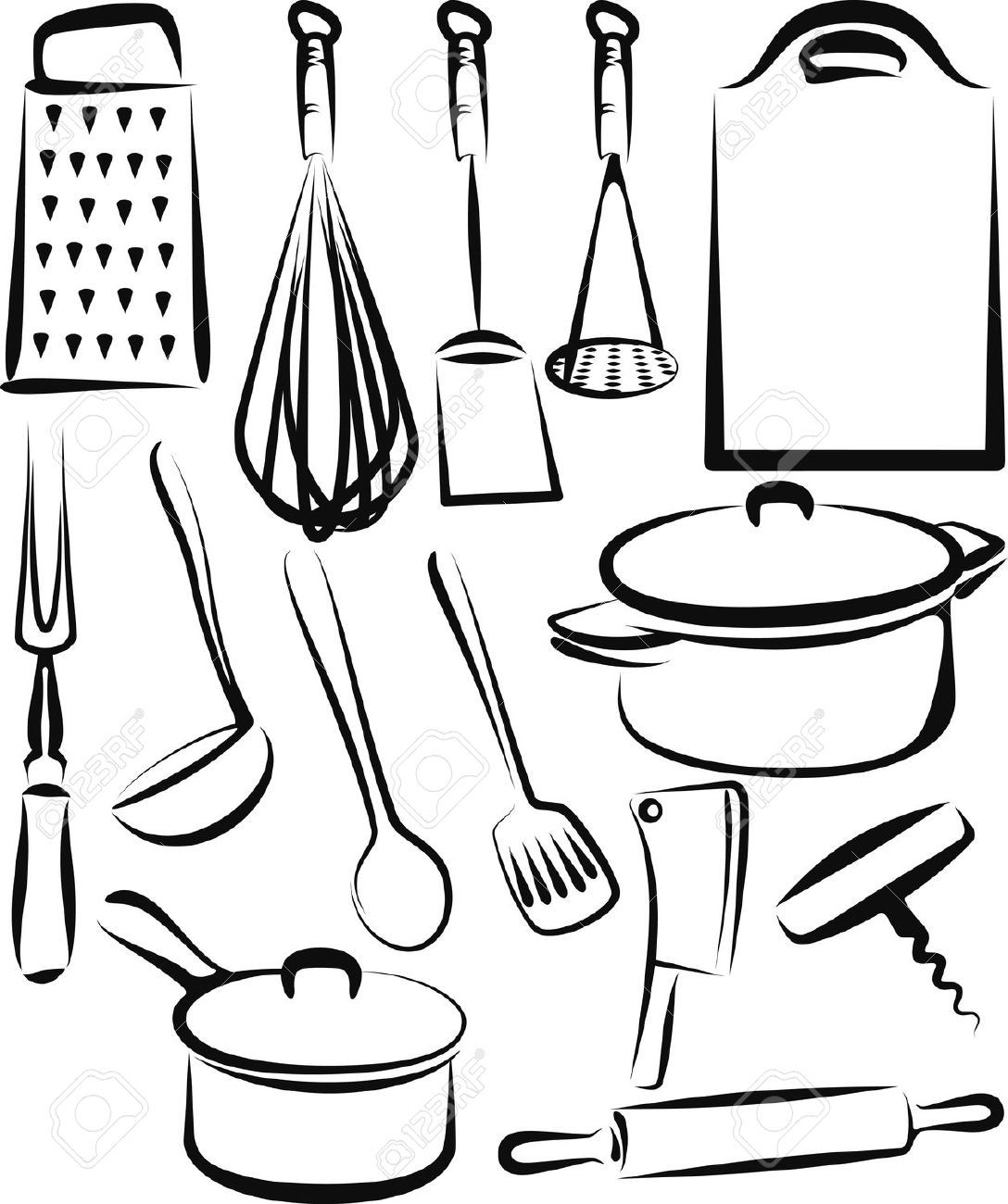 Kitchen utensil royalty free cliparts vectors and stock