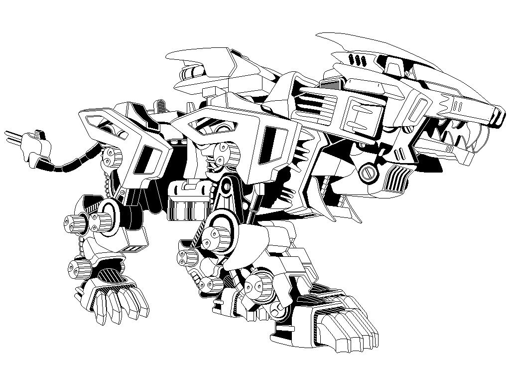 Liger coloring pages ~ Zoids: Liger Zero Outline by arbiter7734   LineArt Zoids ...